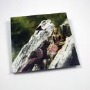 Postkarte Holz mit Nägel - Little Buddhas World
